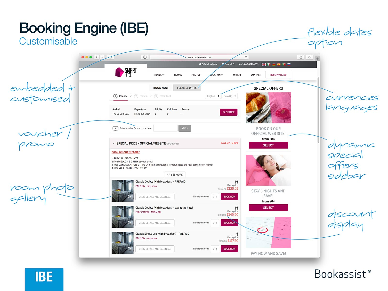 Booking Engine Layout