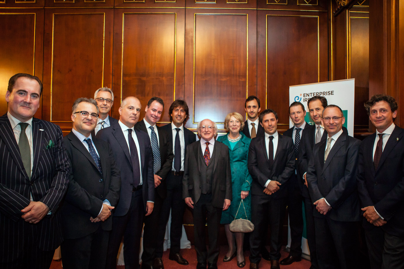 President and Mrs Higgins with Enterprise Ireland client companies and guests