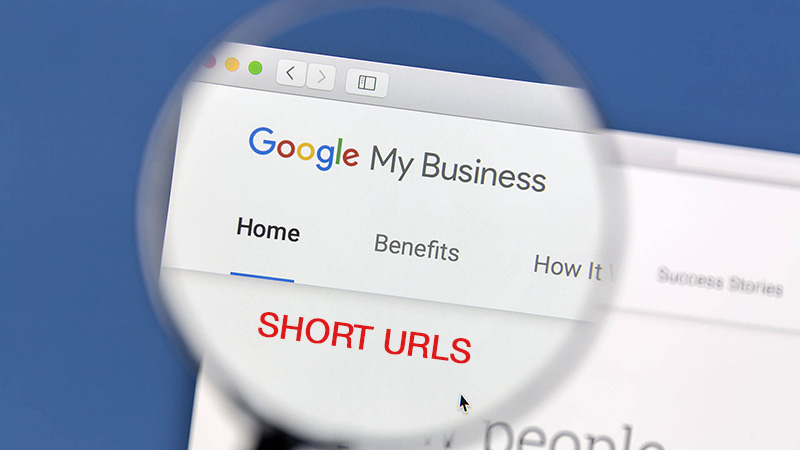 google my business short name url banner