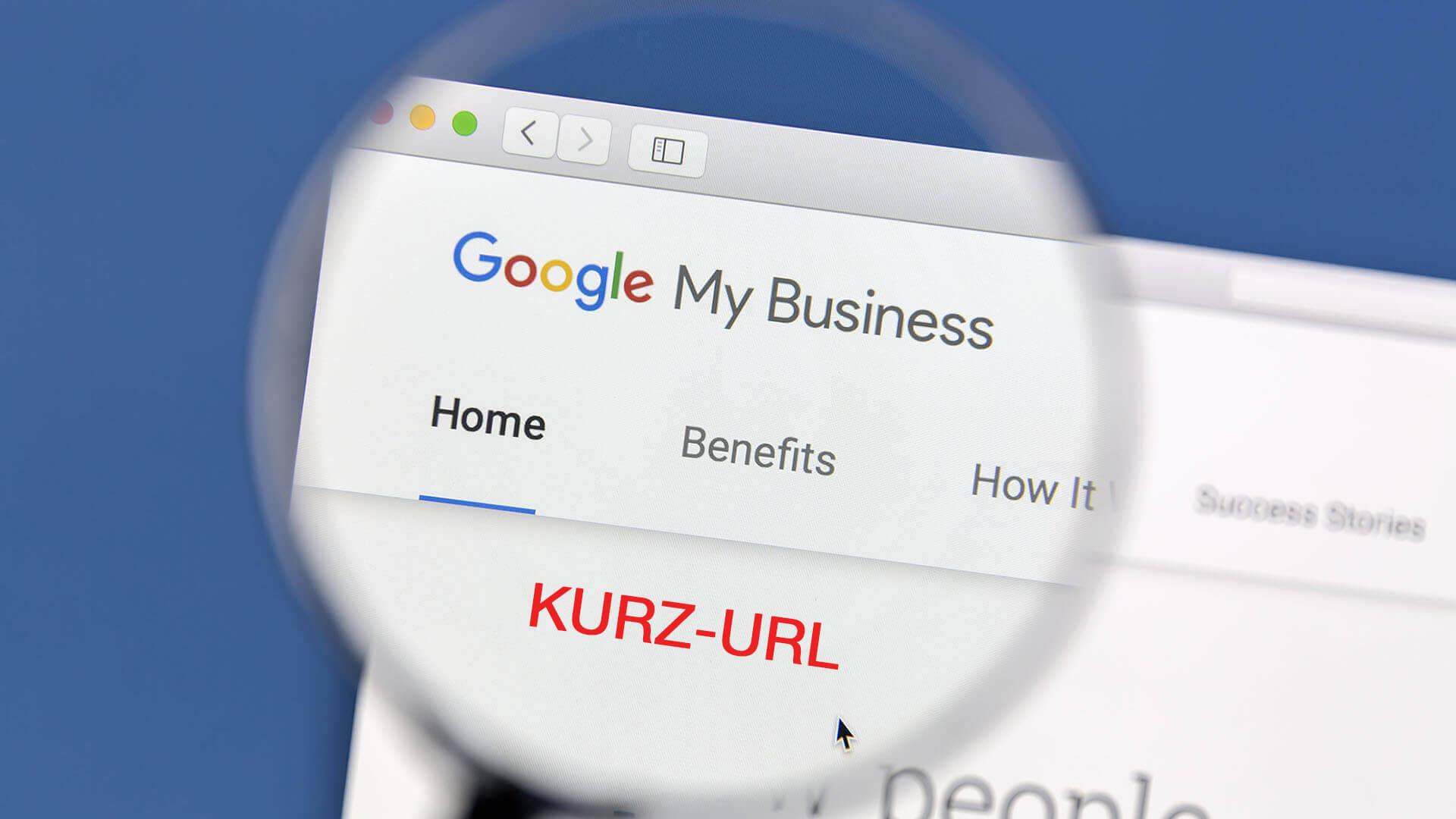 google my business short name url banner