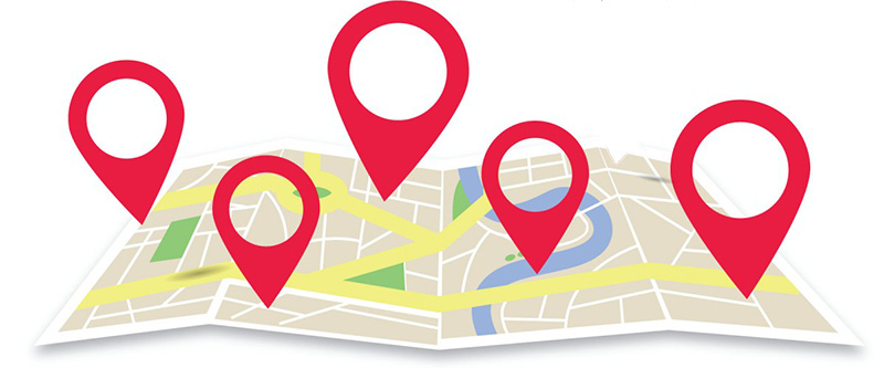 google maps location pins banner